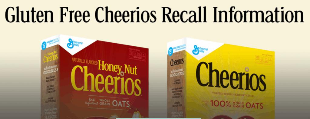Gluten free cheerios recall