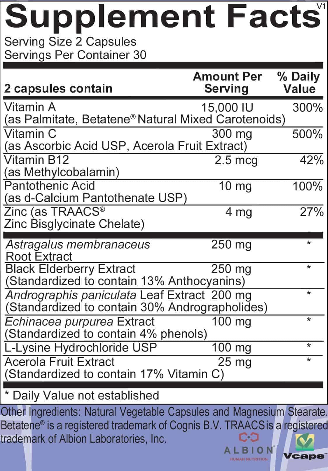 Virid label - Immune Bundle