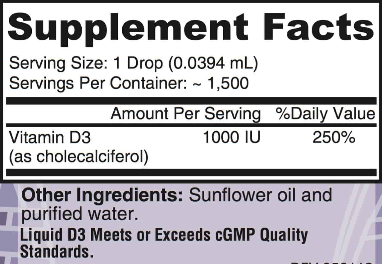 liquid d3 facts - Liquid D3 - Gluten Free Vitamin D