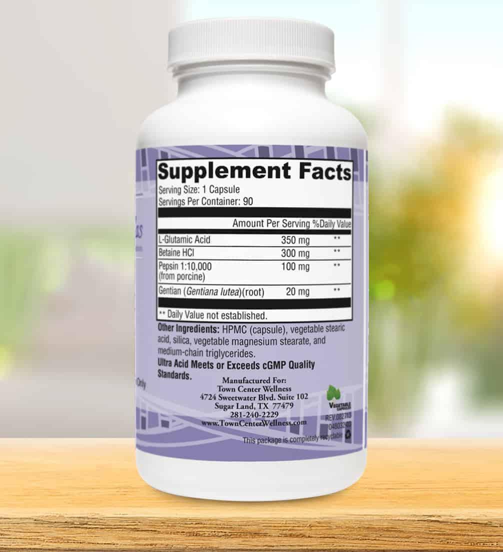 ultra acid label facts - Ultra Acid