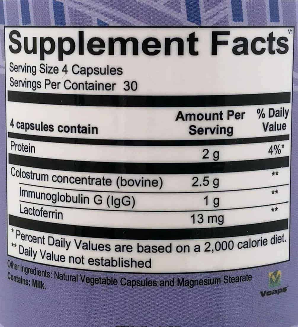 ultra immune IgG label - UltraImmune IgG Capsules