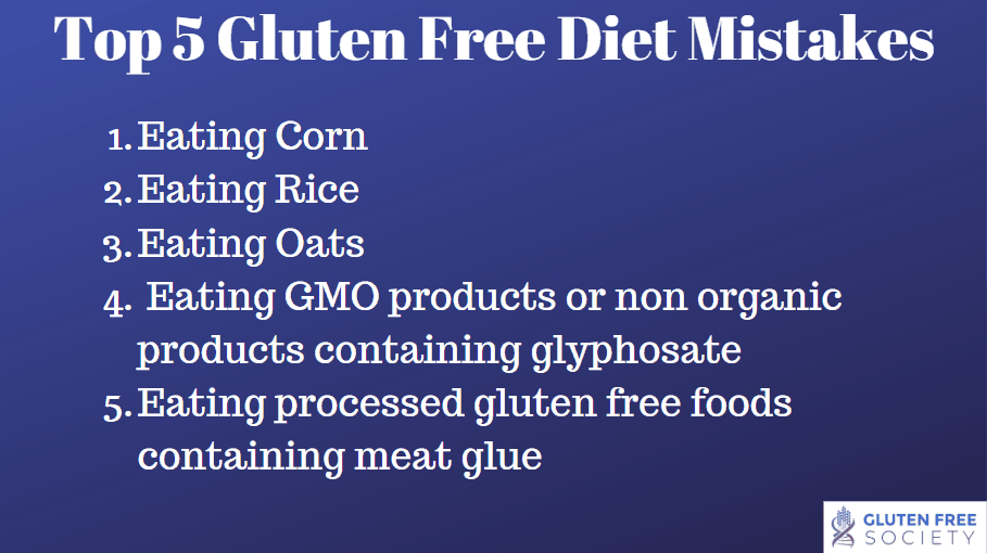Top 5 Mistakes When Going Gluten Free