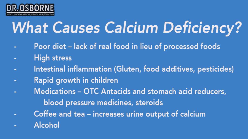 causes of calcium deficiency