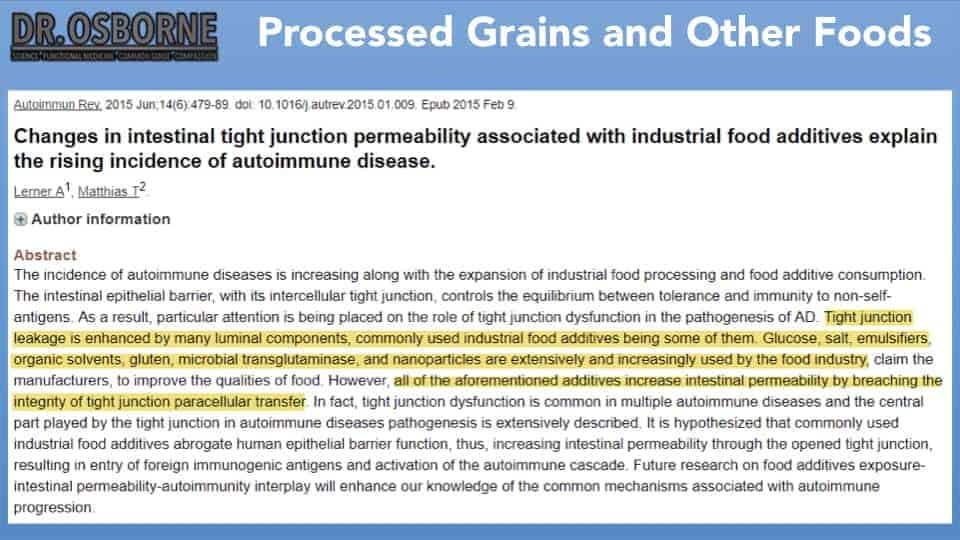 processed grains and other foods