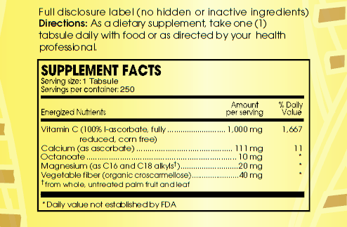 Detox C ingredients