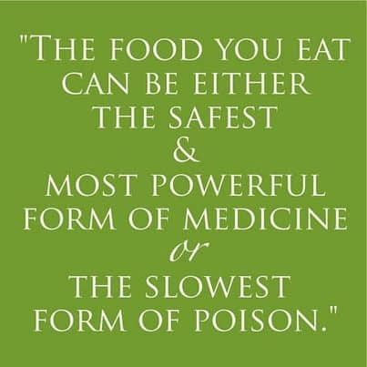 food can either be medicine or poison